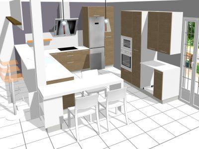 Conception 3D - Cuisine vue 4 © Pado